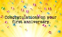 툰스푼 1주년 축하카드