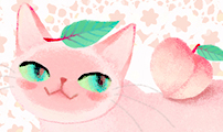 hazy #006 복숭아 고양이