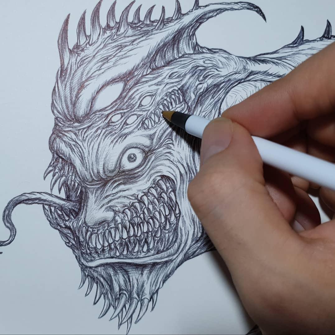 살아있는그림/괴물디자인/괴물그리기/크리쳐디자인/몬스터