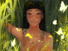 풀숲의소녀