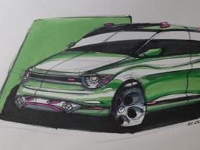개구리를 모티브로 디자인한 자동차
