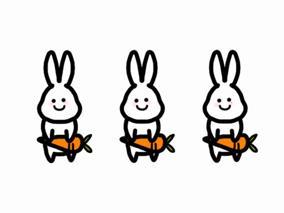 토끼 세마리
