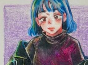 친구 색연필 팬아트
