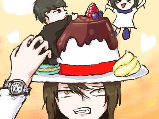 맛있는 디저트 모자