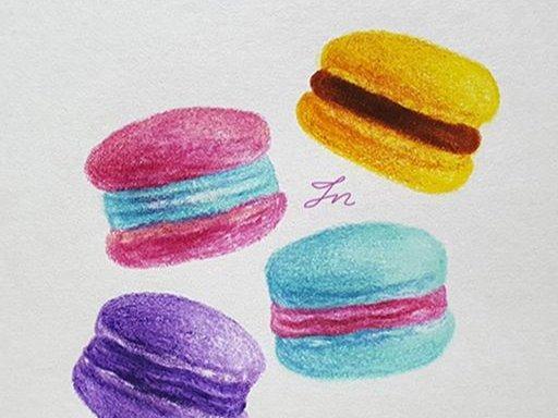 알록달록 색연필 마카롱
