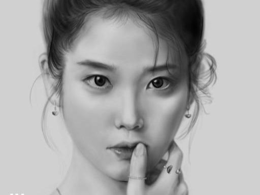아이패드로 그림 그리기 - 아이유