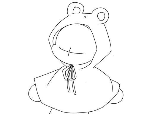 비오는날 개구리 비옷(?)