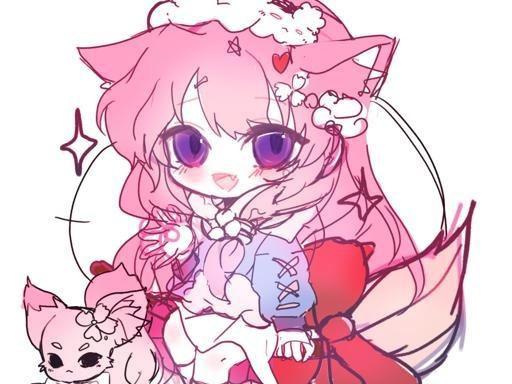 분홍분홍 벚꽃타입 자캐