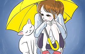우산] 노란우산 아래서