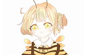 *꿀벌의인화 자캐*