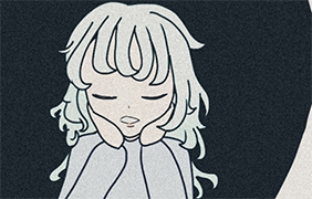 나른한 단발소녀