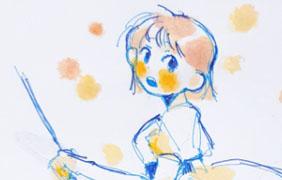 빗자루소녀 낙서