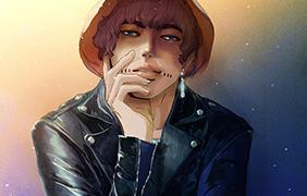 백일몽화원 캐릭터 일러스트- 올리샤
