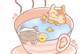 목욕하는 고양이들~